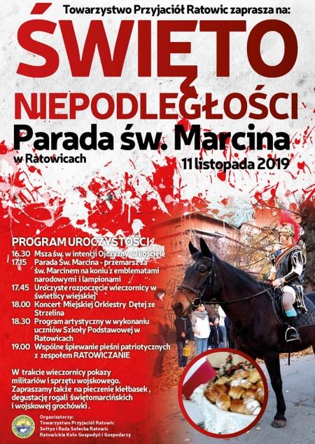 Święto Niepodległości. Parada św. Marcina - ZAPRASZAMY !!!